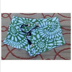Tory Burch Green White Shorts Women's
